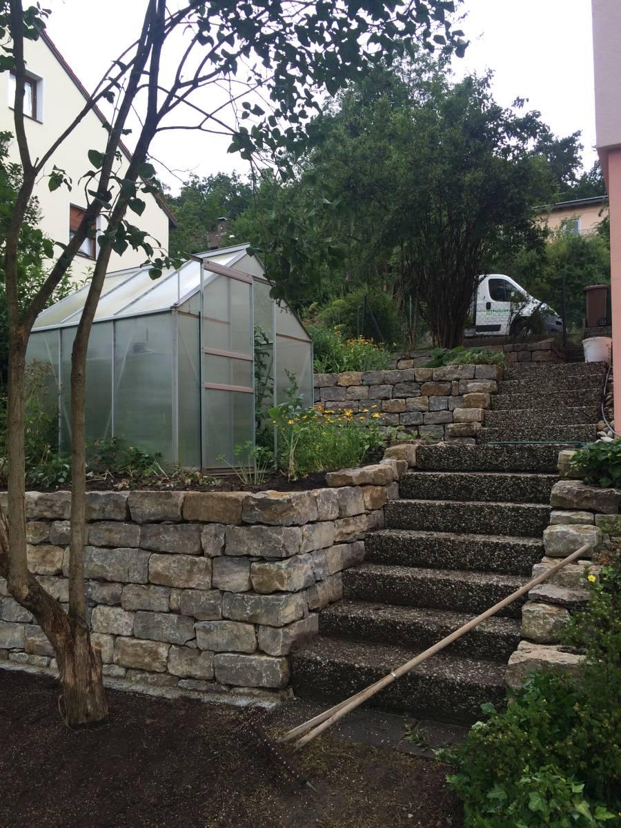 Umgestaltung einer hangabst tzung in laubendorf - Gartengestaltung herzogenaurach ...